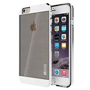 Slicoo Brushed Texture Electroplating Combination Case for iPhone 6 (Silver)