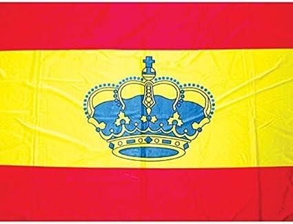 Bandera España con Corona 45 x 30 cm: Amazon.es: Deportes y aire libre