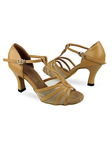Ladies Latin/Rhythm- Classic Series Ballroom Shoes 1692BL25050 Black Leather and Black Mesh 5 M US