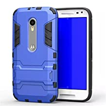 Moto G 3rd Gen Case,Gift_Source [Dual Layer Design] TPU+Hard case Hybrid Combo Armor Defender Rugged Protective Case With Built-in Kickstand For Motorola Moto G3 (3rd Generation) [Blue]