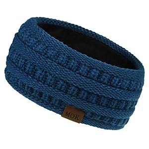 Auifor Winter Knitted Headband – Women Girls Chunky Elastic Knit Headbands Crochet Braided Hair Band Ear Warmer Crochet…