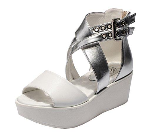 Guciheaven Women New Style Beautiful Cute Platform Peep Toe Sandals(7.5 B(M)US, Black)