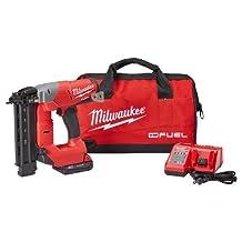 MILWAUKEE M18 FUEL 18 Ga Brushless Brad Nailer Kit - 2740-21CT