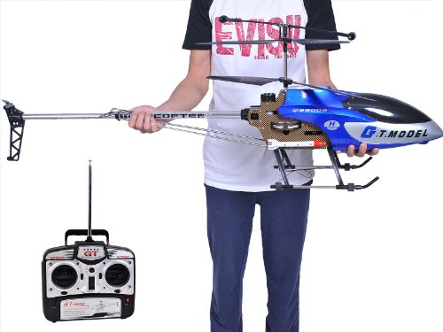 53 Inch Extra Large GT QS8006 2 Speed 3.5 Ch RC Helicopter Builtin GYRO Blue:New by WW shop (Rc Army Helicopter Large)