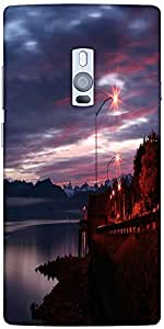 Snoogg Alaskan Dawn Designer Protective Back Case Cover For One Plus Two
