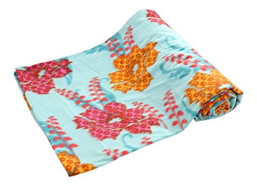 Bombay Dyeing Cherry Fleece Polyester Double Blanket – Multicolor