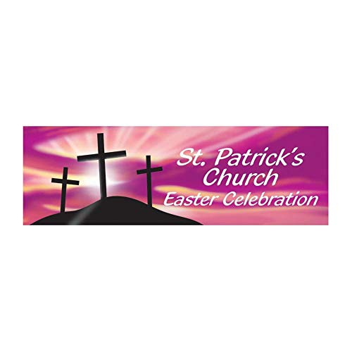 Personalized Religious Crosses Easter Banner - Medium by Fun Express