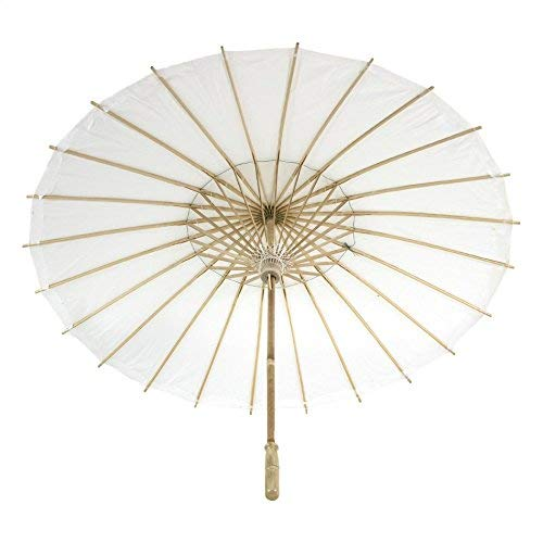 Children Koyal Wholesale 20-Inch White Paper Parasol 4-Pack Oriental Umbrella for Wedding Toddler Party Favors