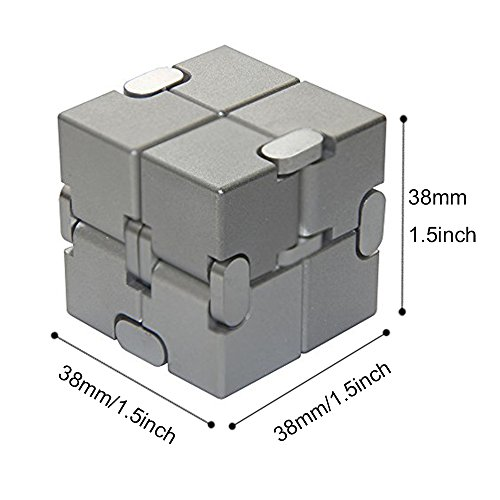 Naxxlab Infinity Cube, Metal Aluminum Alloy Prime Killing Time Fidget Toy Gifts for ADD ADHD Anxiety Autism Adult and Children (Silver) by SLEEPON (Image #6)