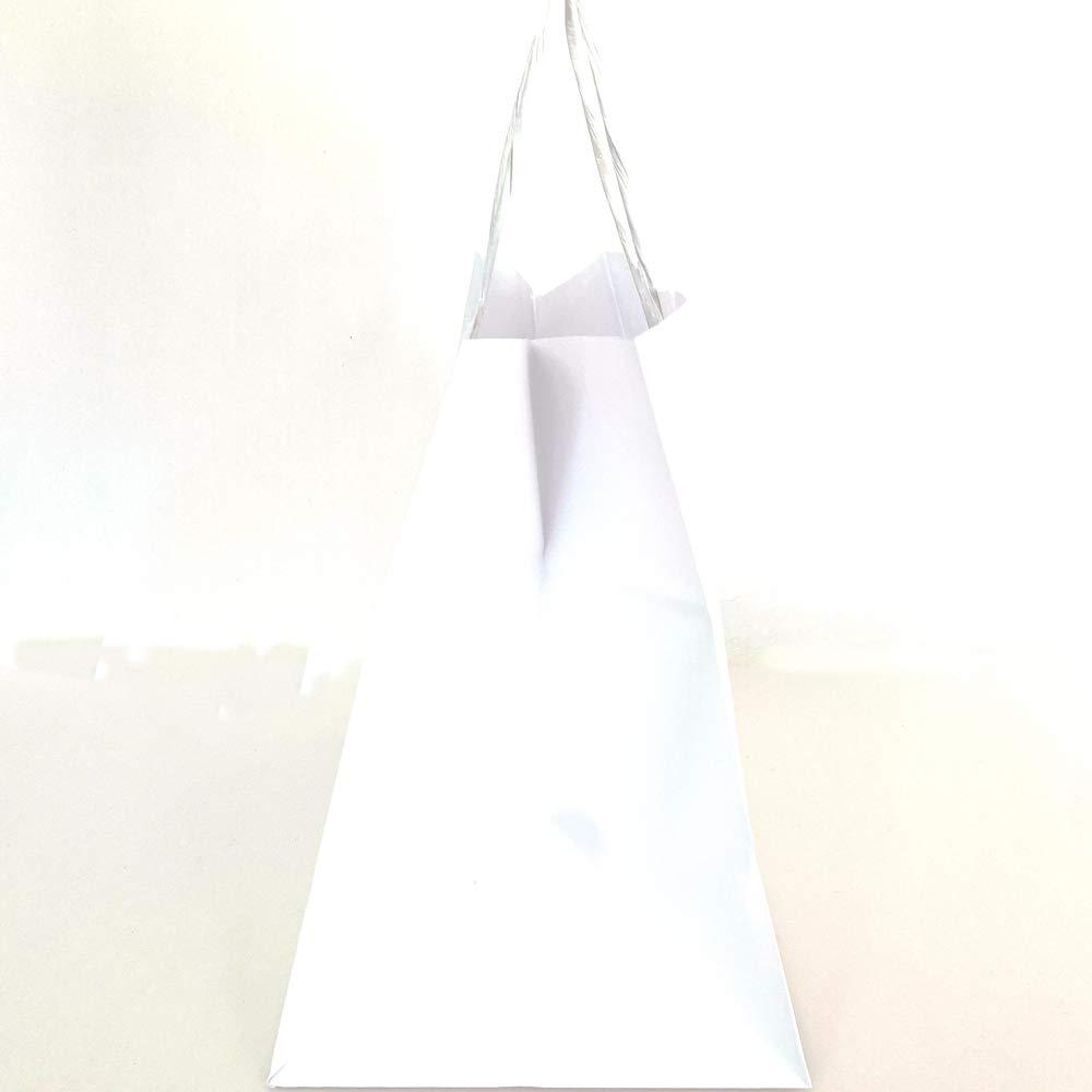 Extiff 26 x 17 x 24 cm Confezione Regalo Set di Borse per la Spesa in Carta cellulosa Bianca con Manici