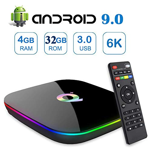 Android 9.0 TV Box,Gimibox Q Plus Android Boxes with 4GB RAM 32GB ROM Quad-core H6 Support 6K Full HD Wi-Fi 2.4Ghz USB 3…