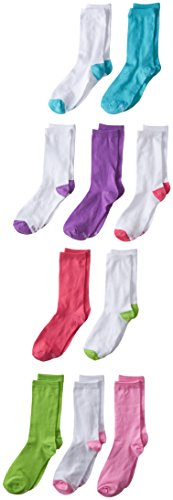 Hanes Girls' 10 Pack Crew Socks