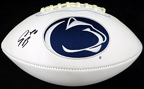 - SAQUON BARKLEY AUTOGRAPHED PENN STATE NITTANY LIONS WHITE LOGO FOOTBALL BECKETT BAS STOCK #128234
