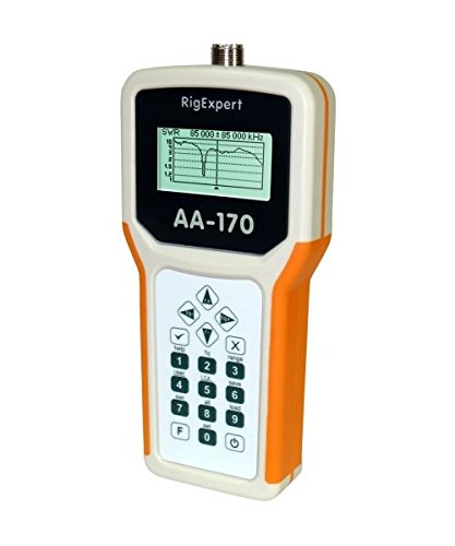Bundle - 3 Items - Includes RigExpert AA-170 Antenna Analyzer 0.1 up to 170MHz with the New Radiowavz Antenna Tape (2m - 30m) and HAM Guides Quick Reference Card
