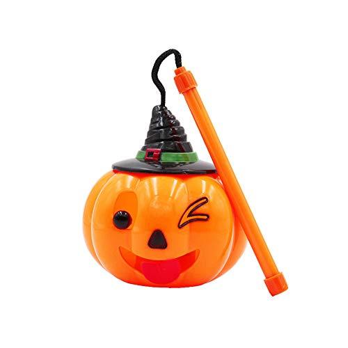 Yinpinxinmao Halloween Emoji Pumpkin Lamp Lantern LED Flash Light Scream Voice Control Kids Gift A]()
