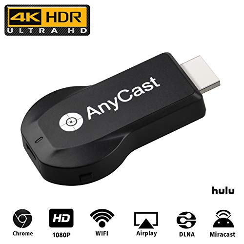 4K Wireless HDMI Display Adapter Transmitter SmartSee Anycast M100 WiFi  Display Dongle Miracast Dongle iPhone Ipad to TV Toneseas Streaming Media
