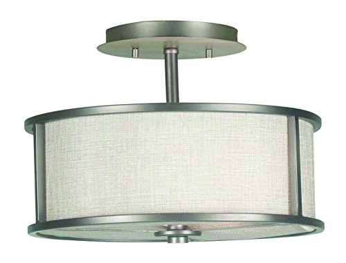 Kenroy Home 91582BZG Whistler 2 Light Semi Flush, Bronze Gilt ()