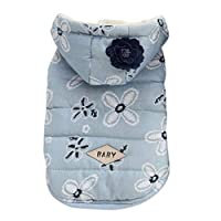 PANDRAGON Dogs Cozy Winter Hoodies Coat Jackets Thickeness Fleece Pet Cats Snowsuit Apparel Windproof Padded Puppy Outwear Clothes