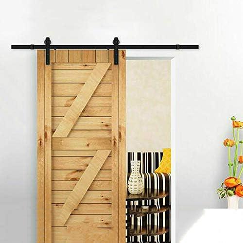 Herraje para Puerta Corredera Kit Riel colgante de doble puerta de 183-600 cm Riel de puerta corredera Accesorios de hardware de polea de puerta de cocina interior (Size : 300cm Double