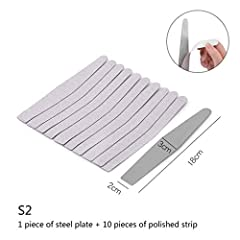 10Pcs Professional Nail File Strap Rubber With Iron For Manicure UV Gel Varnish File Sandpaper Tool Nail Files Features: 1.100% new and high quality. 2.Made of imported materials, it is thick and durable, and the surface is frosted and evenly...