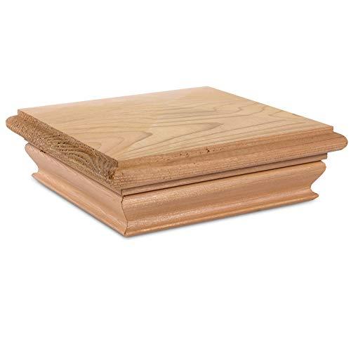 - Woodway Pyramid 5.25x5.25 Post Cap - Premium Cedar Wood Fence Post Cap, Newel Post Top 5.25 x 5.25, Fits Up To 5.125 x 5.125 Inch Post, 1PC