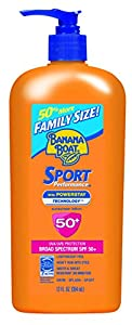 Banana Boat Sport SPF 50 Family Size Sunscreen Lotion, 12 Fluid Ounce