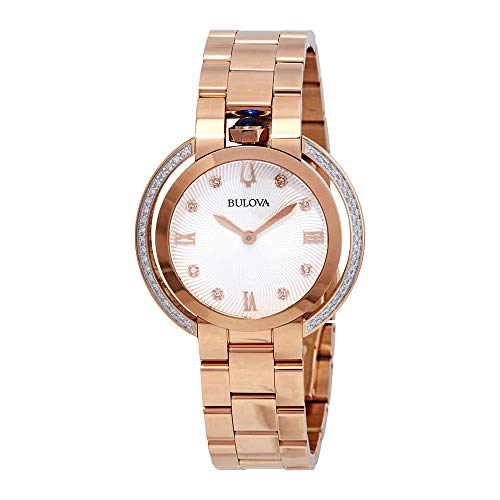 - Bulova Women's Rubiayat - 98R248 Rose Gold One Size
