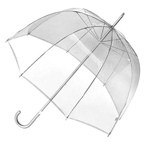 Totes Signature Manual Bubble Umbrella,Clear,US ()
