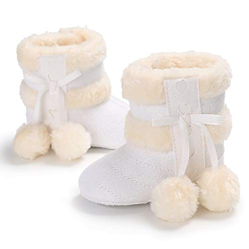 Wollanlily Winter Baby Toddler Infant Girls Boys Warm Snow Boots Soft Sole Anti-Slip Prewalker Moccasins Boots Crib Shoes