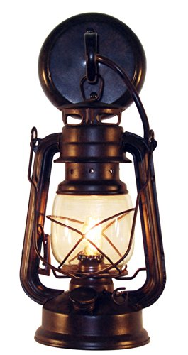 Rustic lantern wall mounted light - Small Rustic by Muskoka Lifestyle Products