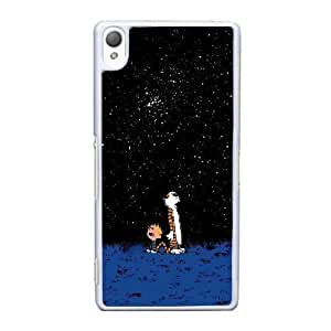 Sony Xperia Z3 Cell Phone Case White Calvin and Hobbes Starry Night YT3RN2557347