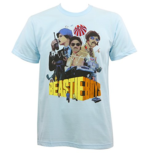 Beastie Boys Mens Criterion Collection Slim-Fit T-Shirt Light Blue XL