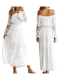 NANYUAYA Women Off The Shoulder Empire Maxi Dress Strapless Empire Waist Maxi Dress