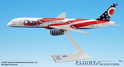 - Flight Miniatures America West Ohio State Livery Boeing 757-200 1:200 Scale