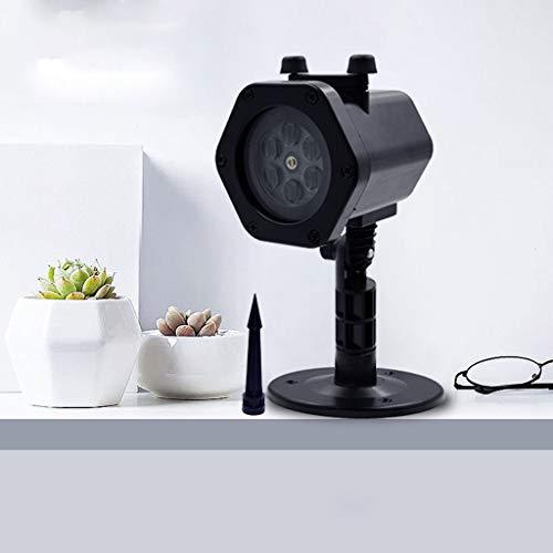 ROUNYY Led Projektionslampe, Weihnachten Projektionslampe LED Projektor mit 12 Musters Lichteffekt Wasserdicht IP65 Weihnachtsbeleuchtung Außen Projektor (A)