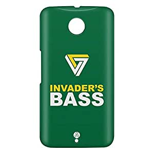 Loud Universe Motorola Nexus 6 3D Wrap Around Invader Bass Print Cover - Multi Color