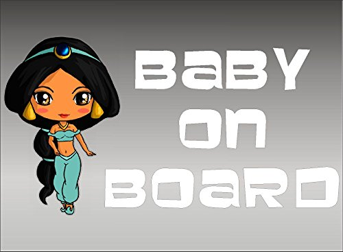 Baby Jasmine Baby on Board Vehicle Decal, Vinyl Graphic Art, Car Window Sticker