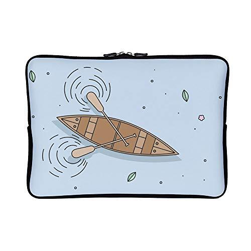 DKISEE Abstract Canoe Neoprene Laptop Sleeve Case Waterproof Sleeve Case Cover Bag for MacBook/Notebook/Ultrabook/Chromebooks