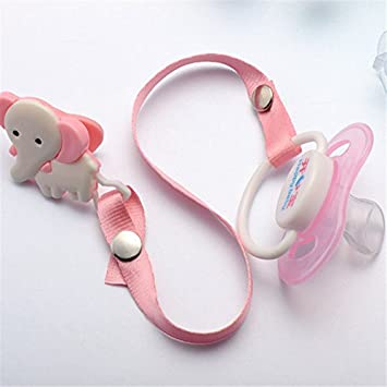 Amazon.com: Lovely single loaded with flat head pacifier chain porta ...