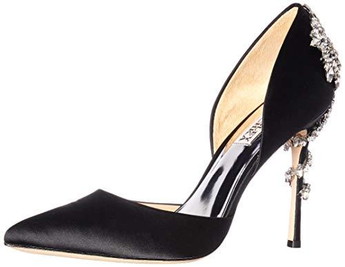Badgley Mischka Women's Vogue Pump, Black Satin, 7 M US