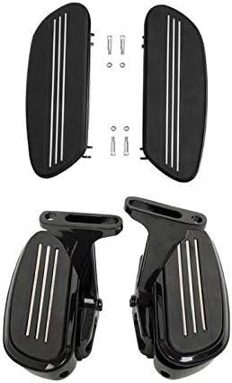 Green-L Black Streamliner Driver /& Passenger Floorboard Kit Fit for Harley Touring Road Street Glide Electra Classic FLHTC 1993-2020