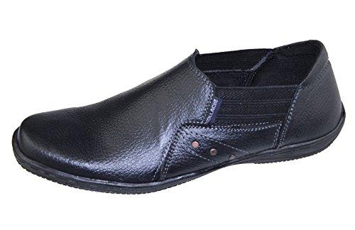 Mens Slip on Walking Boat Deck Mocassin Comfort Loafers Driving Casual Shoes Mild Black nvAUXV55TY