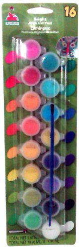 Apple Barrel Acrylic Paint Set with 16 Colors, 23912 Bright