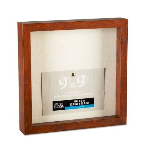 Studio Decor Heavy Duty Wood Frame 1'' Depth Shadow Box Display Case Nursery Wedding Graduation (Honey, 9''x9'') by Studio Decor