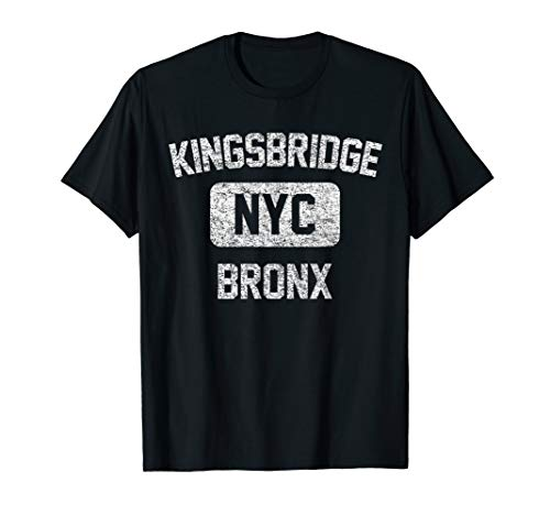 Kingsbridge T Shirt - Gym Style Distressed White Print