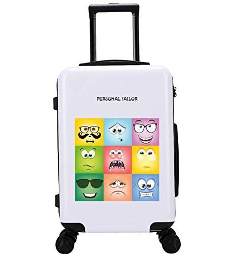 ユニバーサルホイールトロリーケースラゲッジスモールフレッシュ24インチスーツケース (Color : White1)   B07M841JRQ