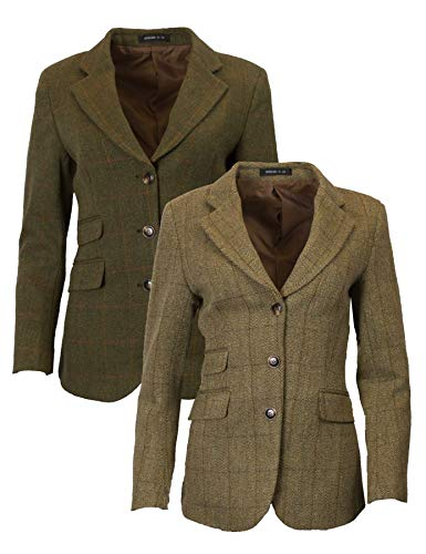 - Walker & Hawkes - Ladies Classic Mayland Tweed Country Blazer Jacket - Light Sage - 10