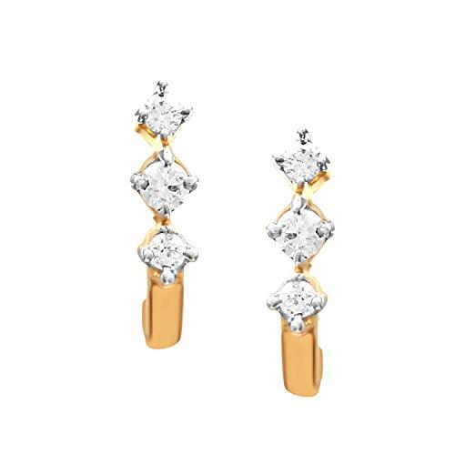 Giantti 14carats Diamant pour femme Dangler Boucles d'oreilles (0.25CT, VS/Si-clarity, Gh-colour)