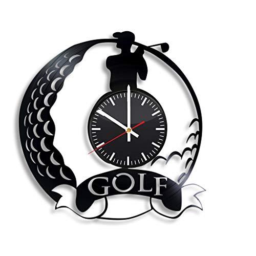 Club Golf Clock - Golf Vinyl Wall Clock, Golf Game Art Room Kitchen Home Decor Handmade Party Supplies Theme Best Original Sport Present Gift Vintage Modern Decoration