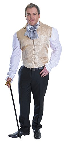 Bristol Novelty AC713 Regency Man Top, White, 44-Inch -